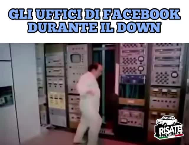 GLI UFFICI DI FACEBOOK DURANDE IL DOWN