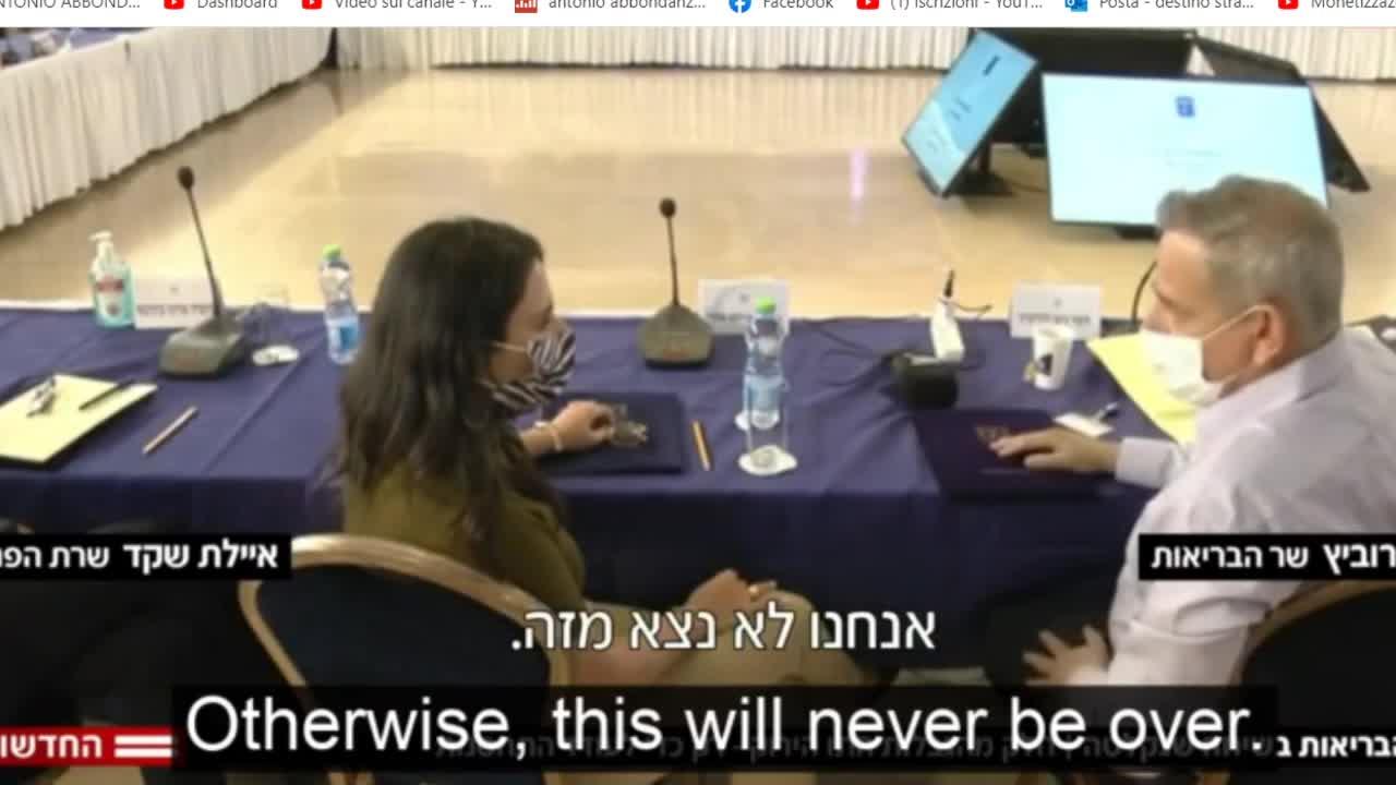 IL MINISTRO DELLA SALUTE ISRAELIANO AMMETTE CHE NON VI E' NESSUNA RAGIONE MEDICA PER IL GREEN PASS