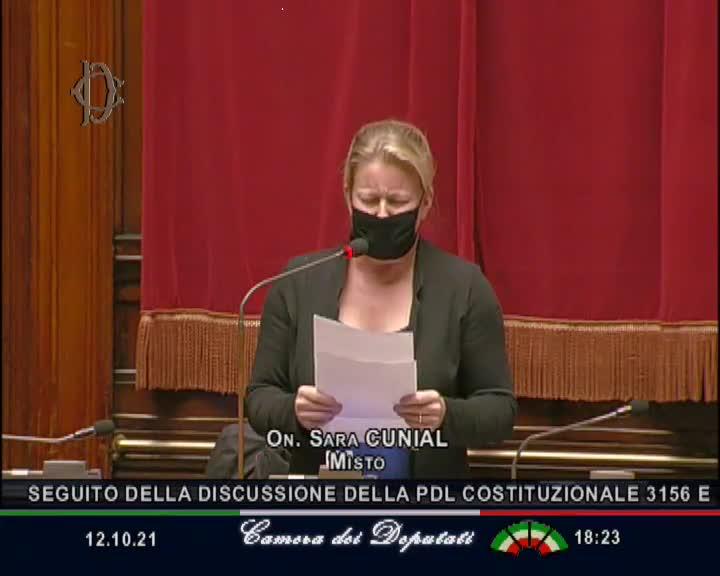 Tutela dell'Ambiente - Dichiarazione di voto di Sara Cunial